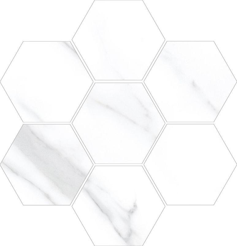 Vallelunga Carrara Hexagon  Porcelain  Mosaic