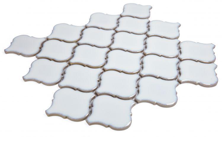 Hulu Fancy White Arabesque  Porcelain  Mosaic