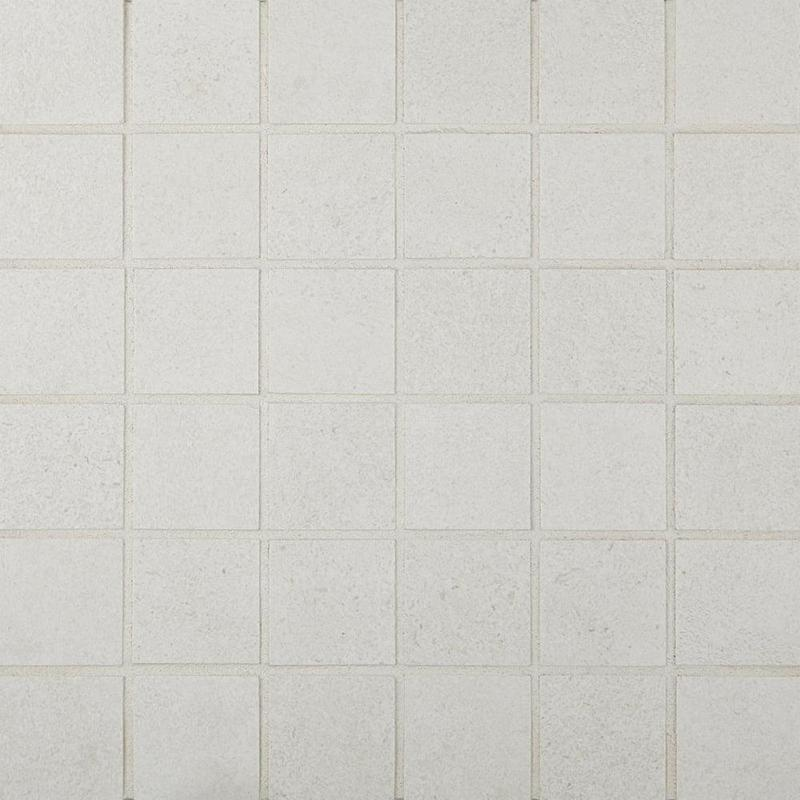 Cemento Rasato Bianco 2x2, Matte, Square, Color-Body-Porcelain, Mosaic