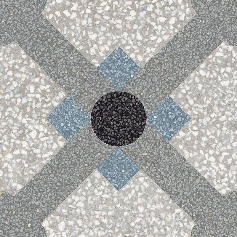 D Segni Terrazzo Chalet Deco 8x8, Matte, Square, Color-Body-Porcelain, Tile