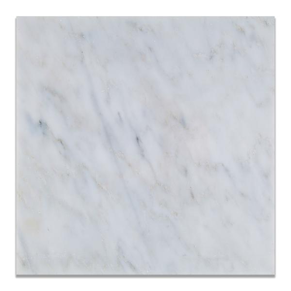 Oriental White Marble Tile 12x12 Honed