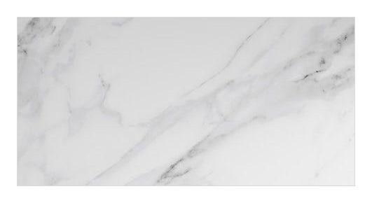 Snow White Polar Marble Tile 12x24 Polished