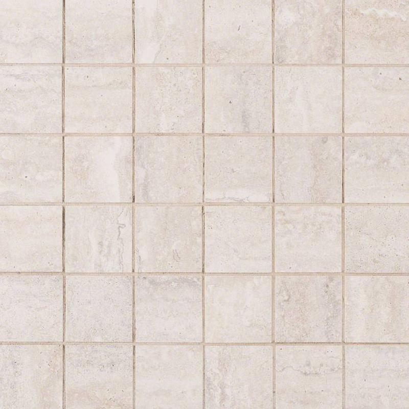 Porcelain Tile Veneto White 2x2, Matte, Square, Mosaic