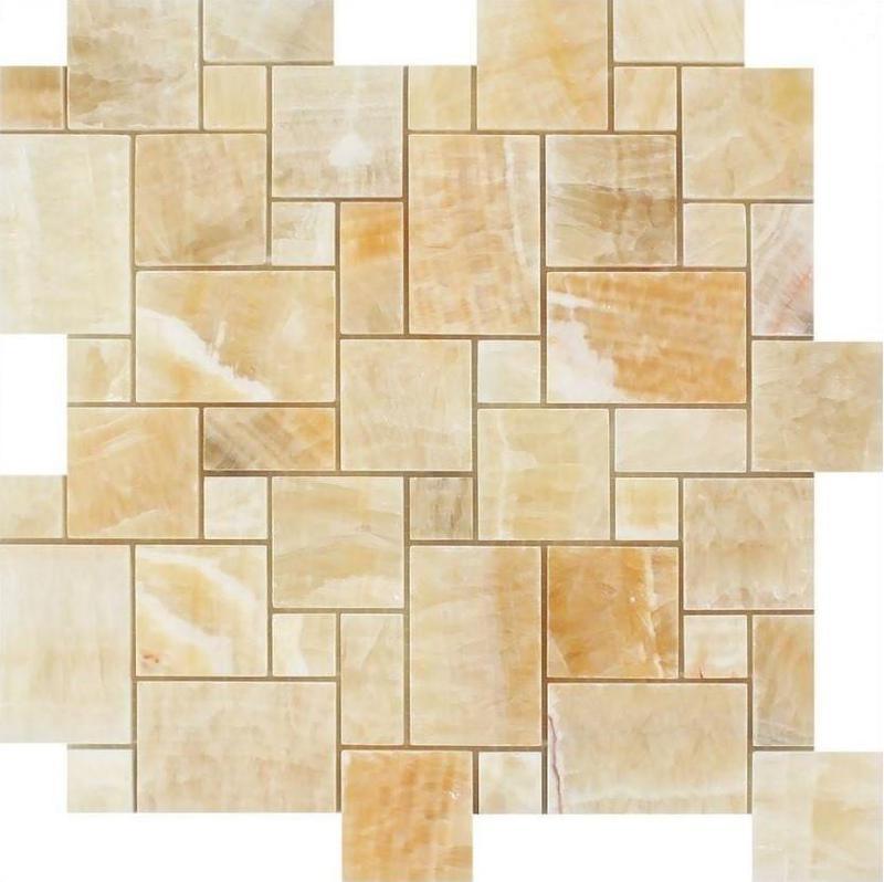 Onyx Honey Mini Polished   Mosaic