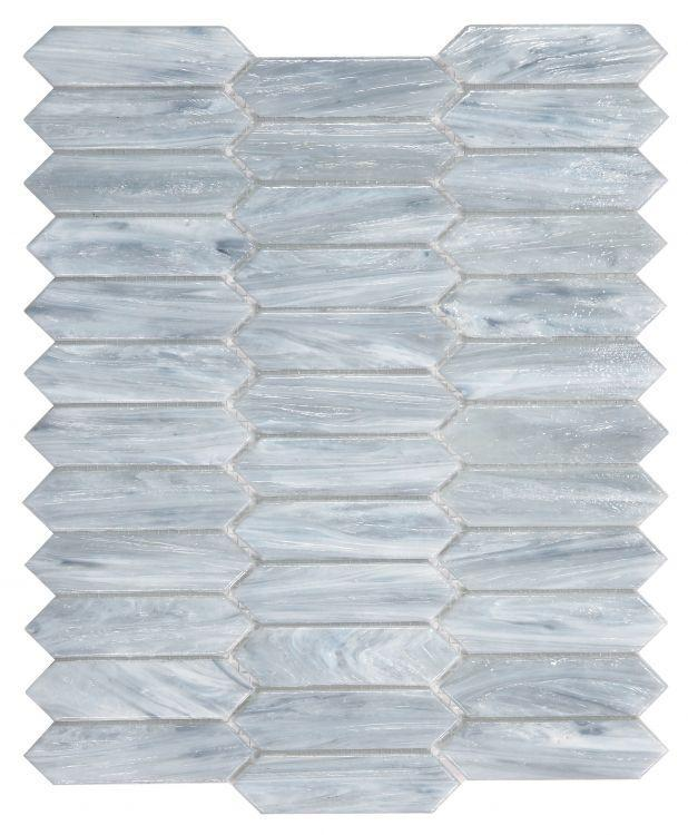 Hot Arrow Grey Elongated Hexagon  Glass  Mosaic