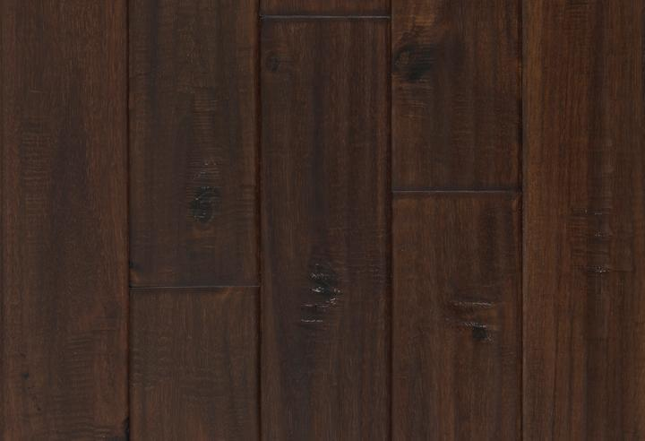 Engineered Selections Exotic Walnut 90 in, Hand-Scraped, Dark Brown, Acacia, Engineered-Wood, Trim