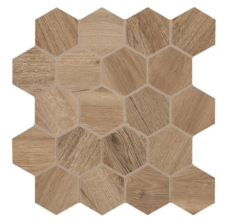 Aequa Tur 2.5 in, Standard, Hexagon, Color-Body-Porcelain, Mosaic