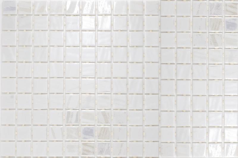 Onix Opalo Blanco 1x1 Square  Glass  Mosaic