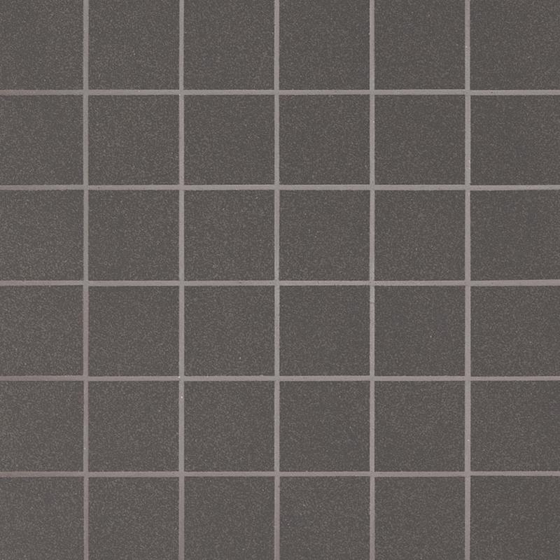 Ceramics Porcelain Floor Tiles Optima Graphite 2x2, Matte, Gray, Mosaic