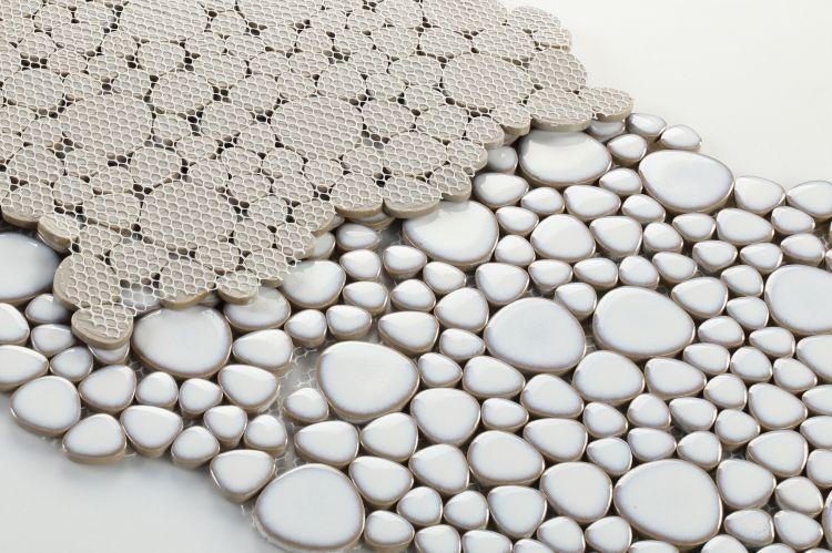Growing Fancy Pebble  Porcelain  Mosaic