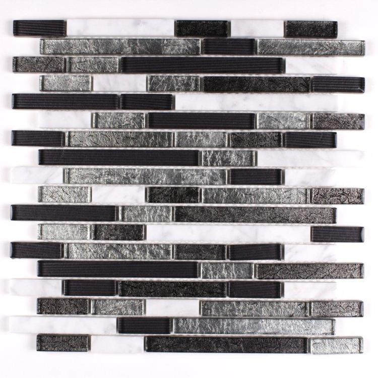 Milano Cliff Stack, Linear  Glass  Mosaic