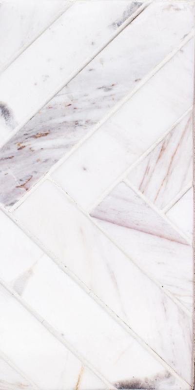Sto Re Volakas 1-1/2x9 Herringbone Polished Natural Stone  Mosaic