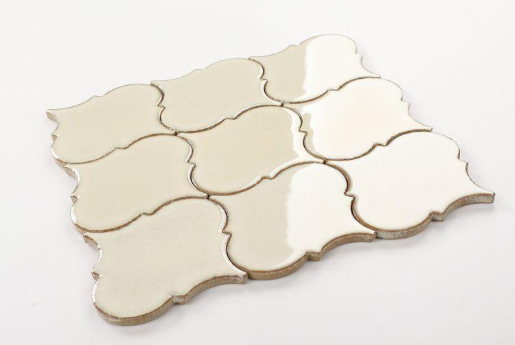 Calabash Ivory Arabesque  Porcelain  Mosaic