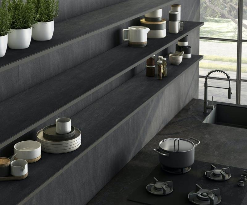 Group 2 Industrial Collection Laos Standard Size 57x126 12 mm Smooth Matte Porcelain Slab