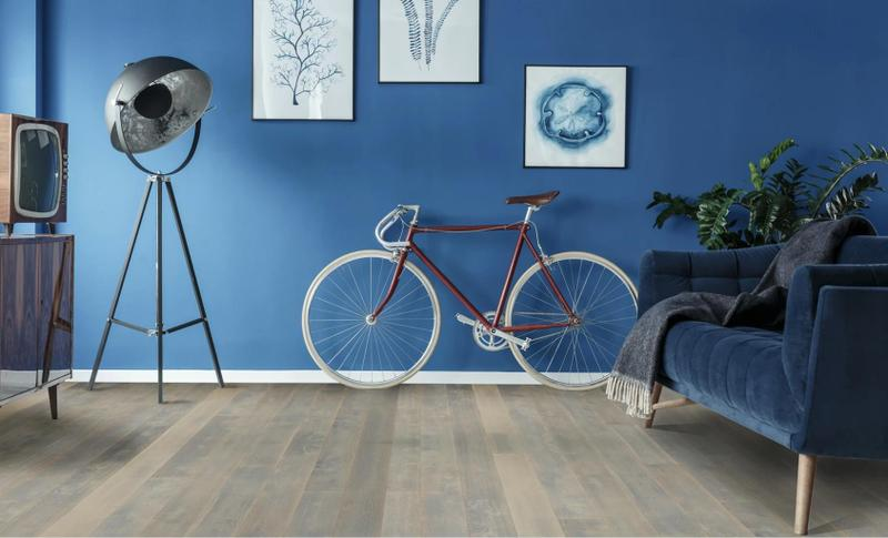 Seneca Valley Collection Rockville 9.5xfree length, Wire-Brushed, Brown, European-Oak, Engineered-Wood