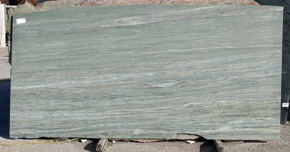 Granite Green River 57x120 0.75 in Leather  Slab