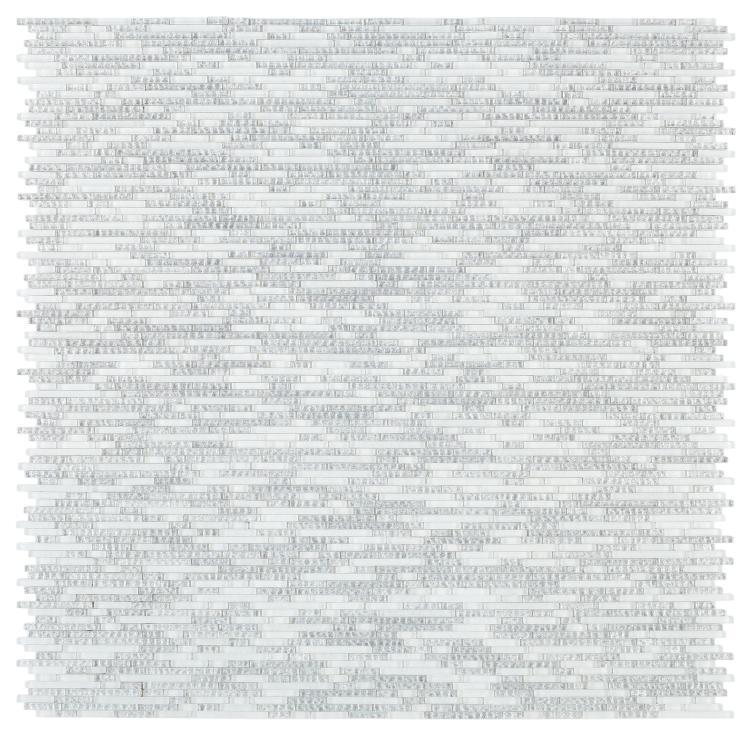 Linear Glass Duchess White Mosaic