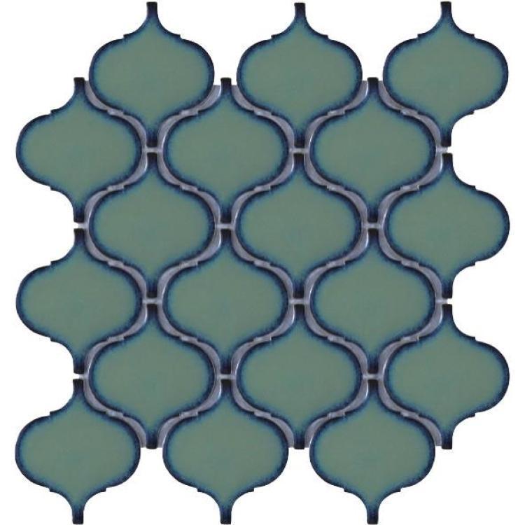 Hulu Green Arabesque  Porcelain  Mosaic