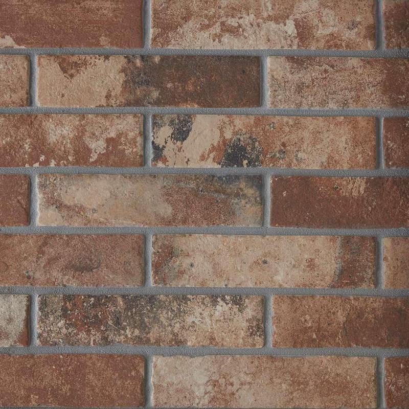 Castle Brick Red 2.5x10, Glazed, Porcelain, Tile