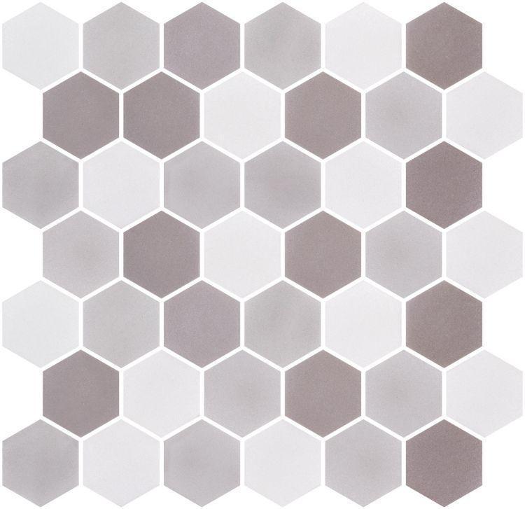 Onix From Spain Stoneblend Xl Loft Hexagon Matte Glass  Mosaic