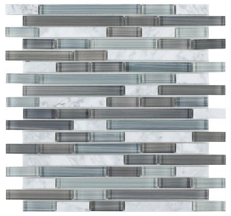 Linear Glass Blue Mosaic