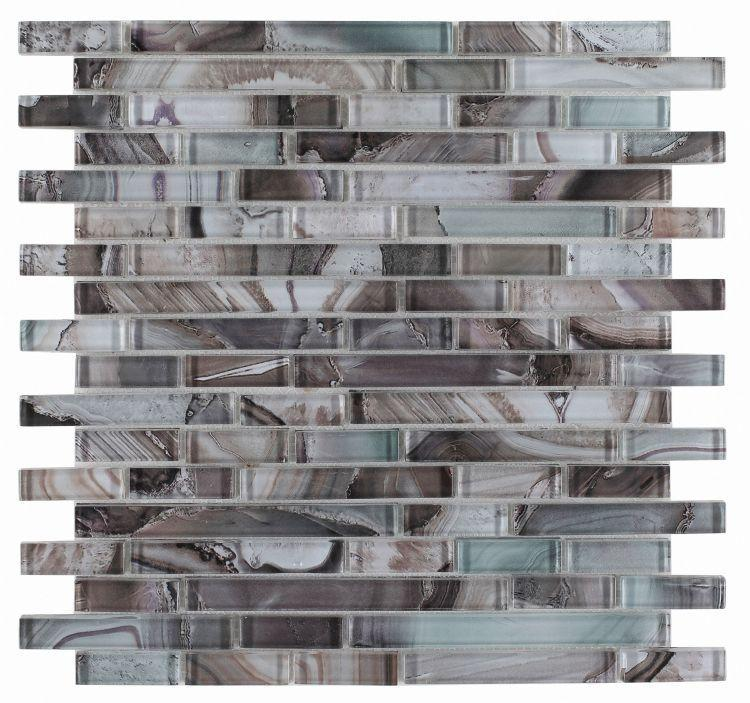 Shell Forest Linear Glossy Glass  Mosaic