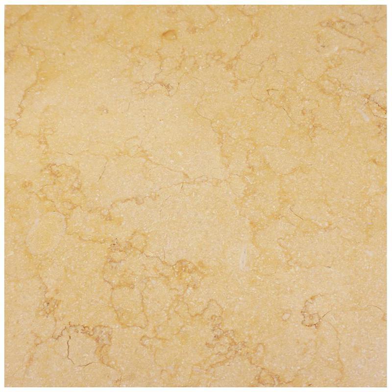 Sunny Gold Limestone Tile 18x18 Honed
