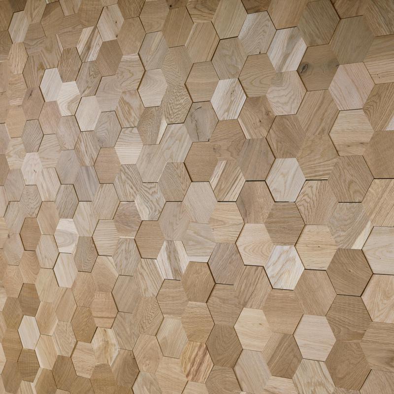 Eighteen51 Hexagon Dimensional Shores Newport 9x47.6  Wood