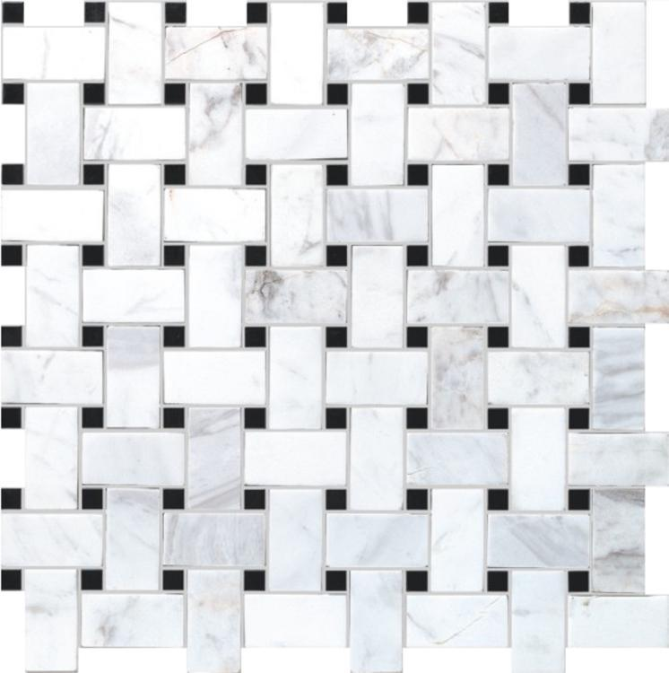 Precious Stone Cross Black 1x2 Windmill  Glass  Mosaic
