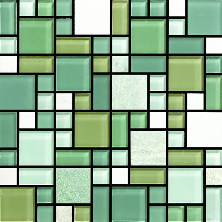 Milano Ibiza Square Glass  Mosaic