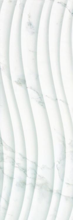 Carrara Art Flow Polished 12x36 Ceramic  Tile