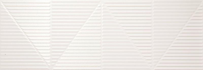 Newker Series Tresor White Polished 13x36 Porcelain  Tile