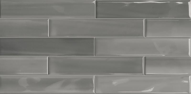 Porcelain Shadebrick Grey Polished 3x12   Tile
